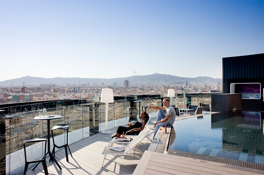 Terraza panorámica para eventos en Barcelona